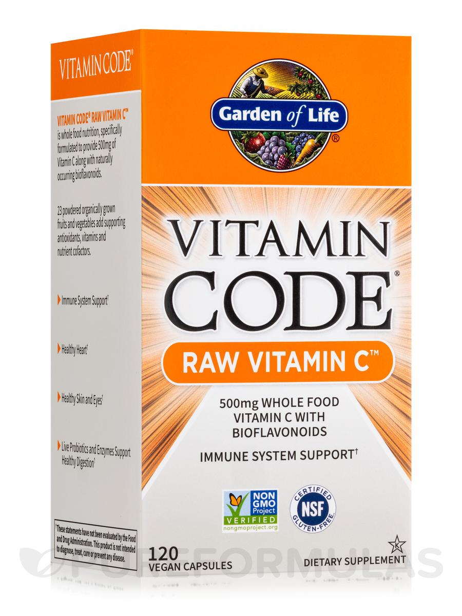 Code RAW Vitamin C 120 Vegan Capsules