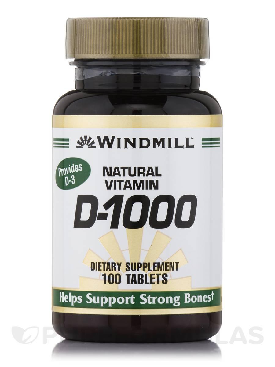 Vitamin D 1000 IU - 100 Tablets