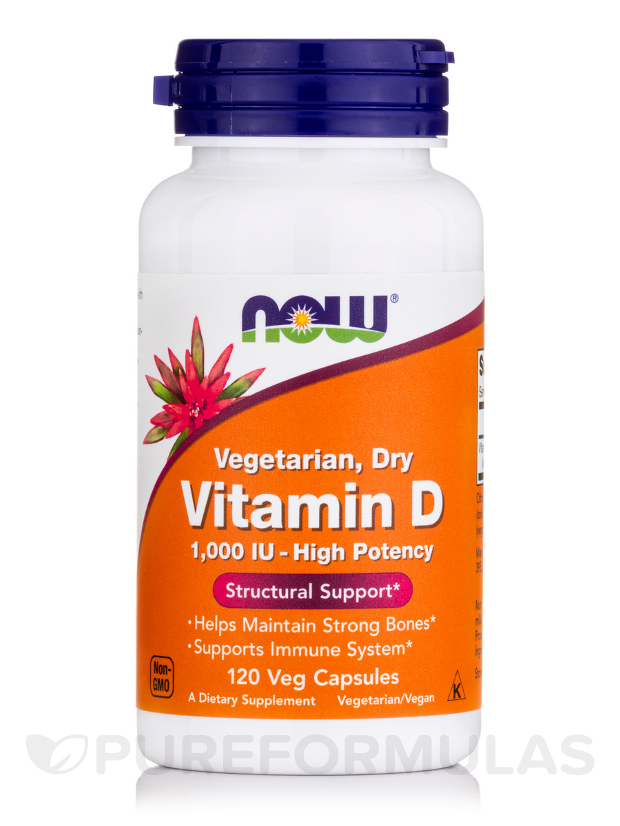 Vitamin D 1000 IU - 120 Vegetarian Capsules