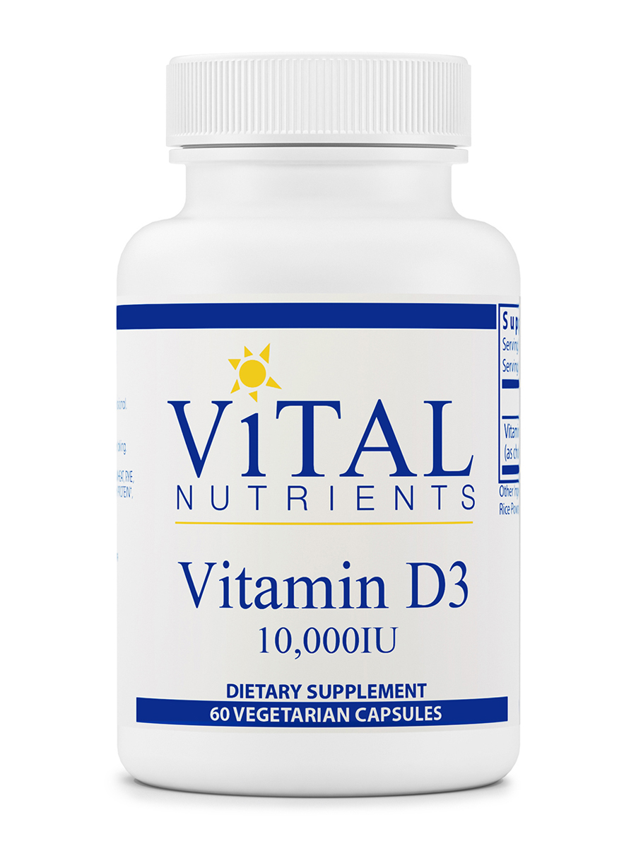 Vitamin D3 10,000 IU - 60 Vegetarian Capsules