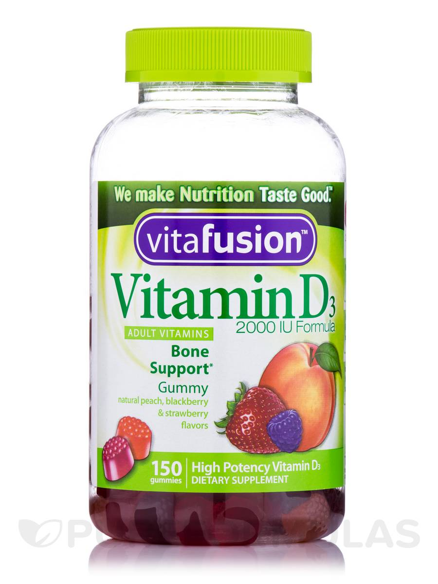 Vitamin D3 Gummy 2000 IU (Assorted Flavors) - 150 Gummies