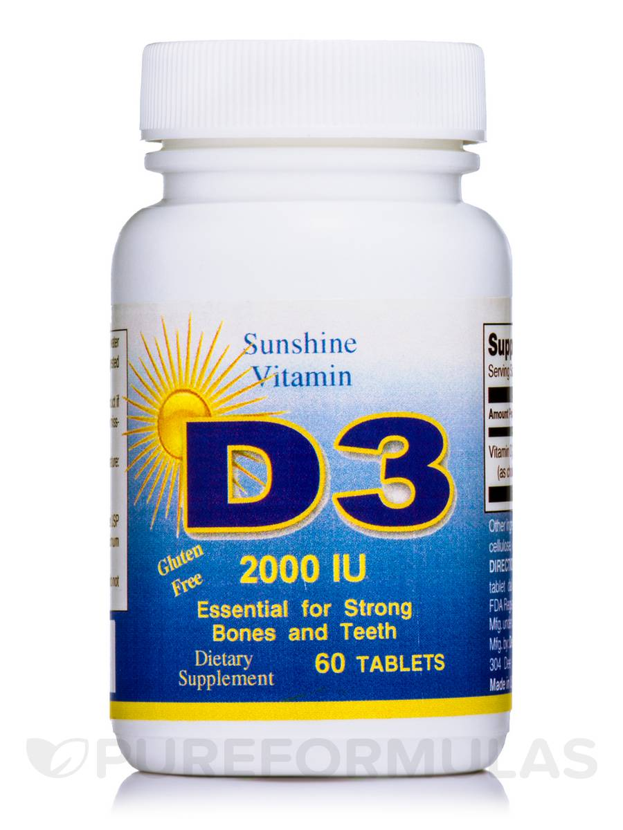Vitamin D 2000 IU - 60 Tablets