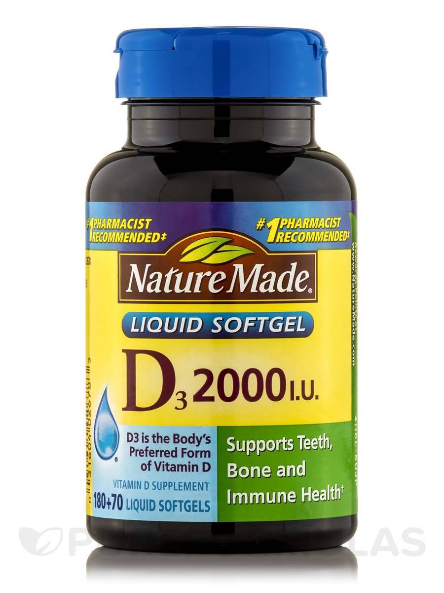 Vitamin D 2000 IU - 250 Softgels