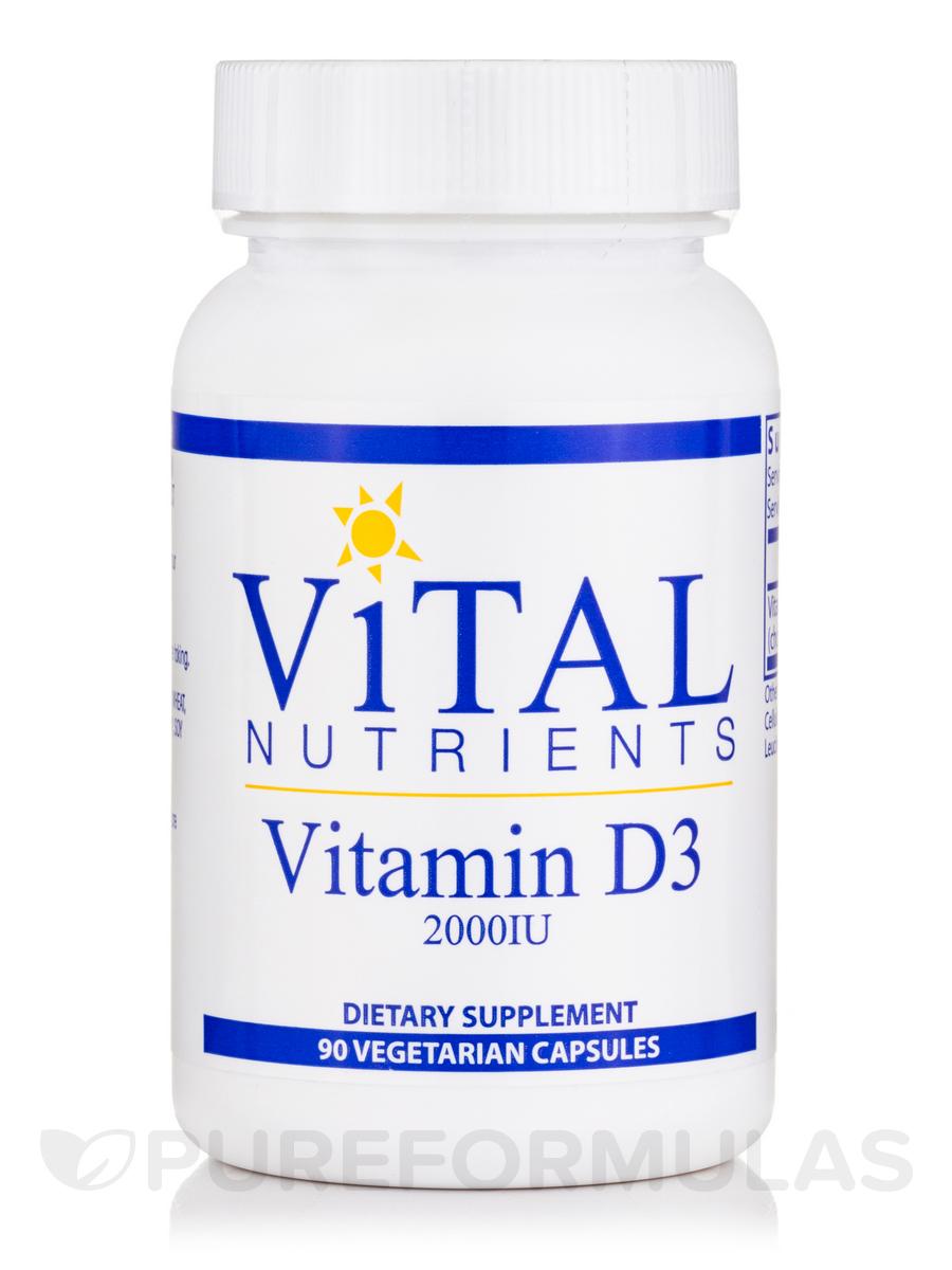 Vitamin D3 2,000 IU - 90 Vegetable Capsules