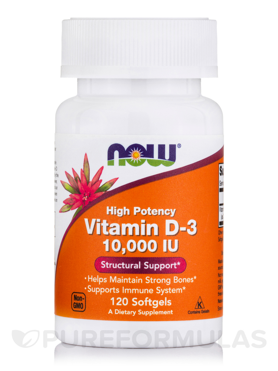 Vitamin D-3 10,000 IU (Highest Potency) - 120 Softgels
