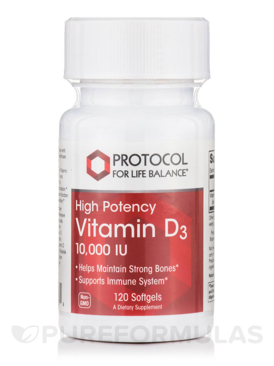 Vitamin D3 10,000 IU (High Potency) - 120 Softgels
