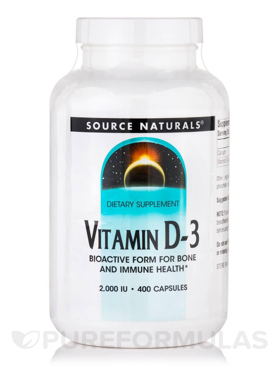Vitamin D-3 2000 IU - 400 Capsules