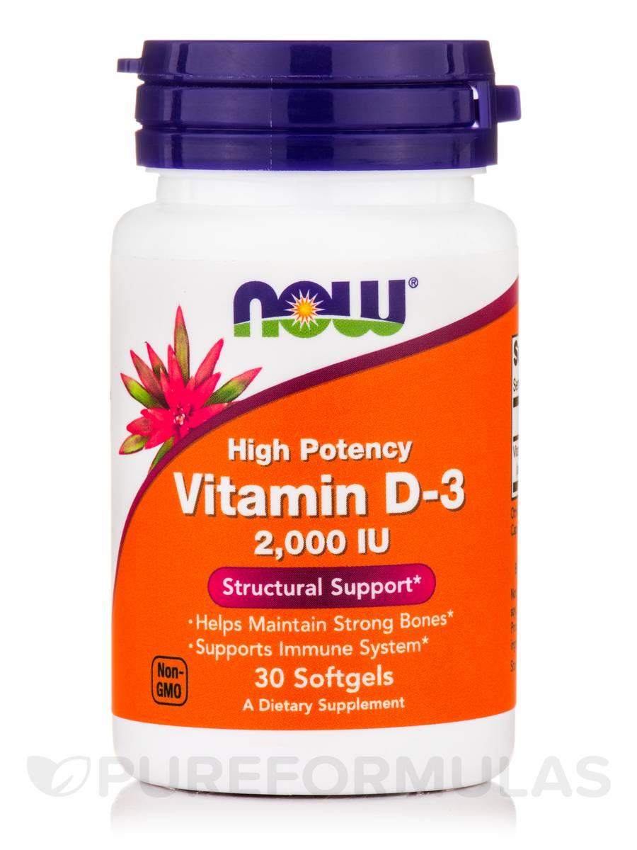 Vitamin D-3 2000 IU (High Potency) - 30 Softgels