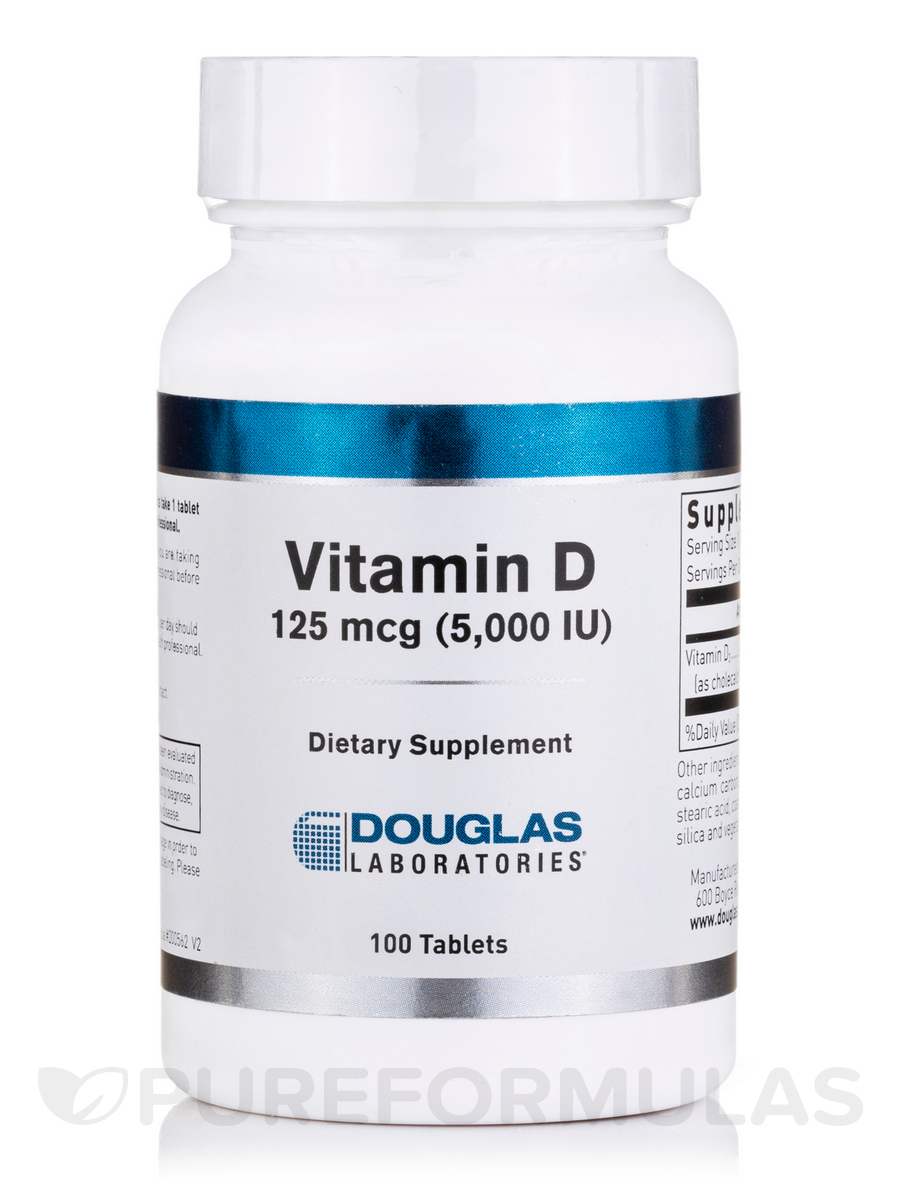 Vitamin D 5000 IU - 100 Tablets