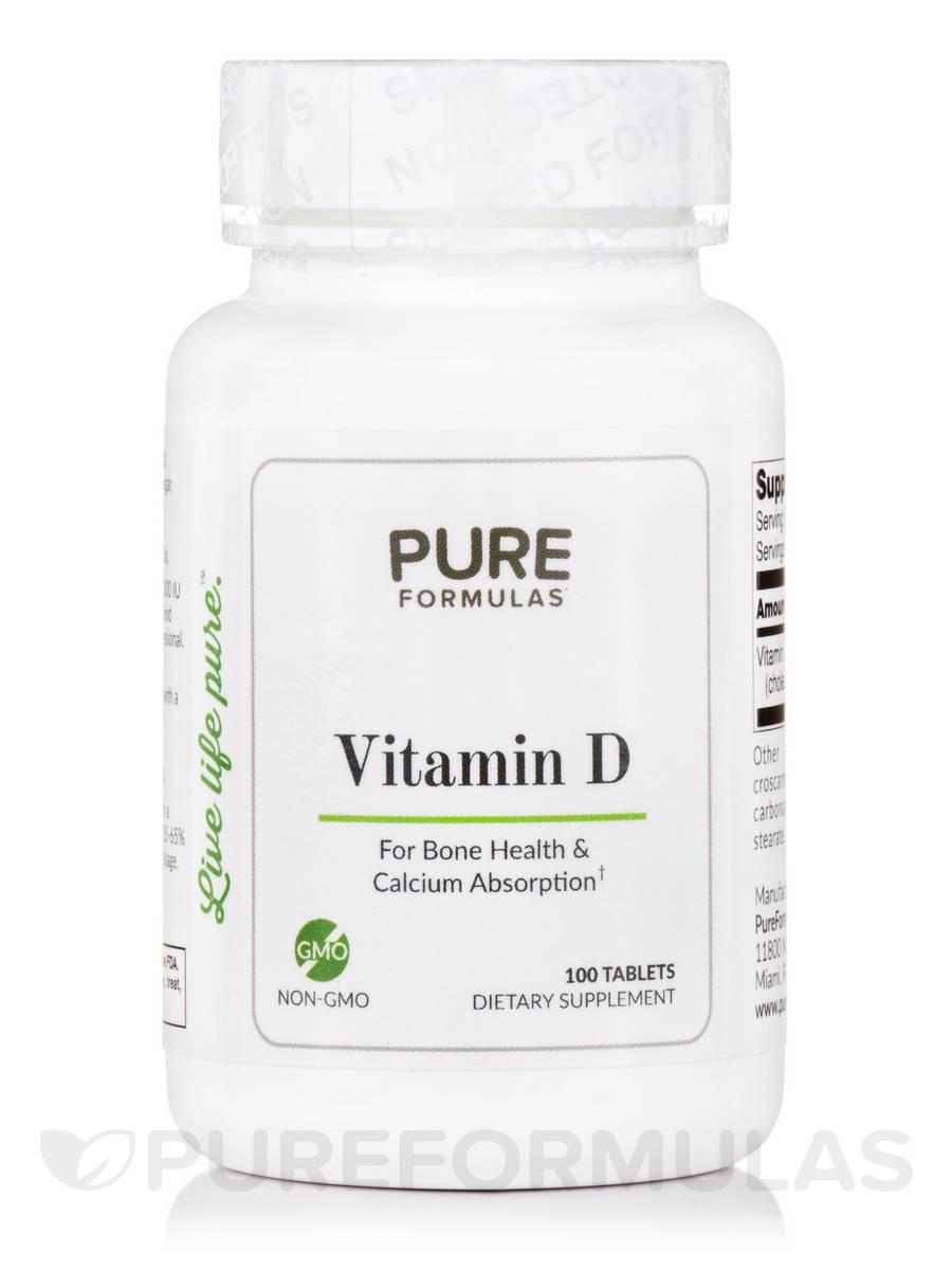 Vitamin D - 100 Tablets