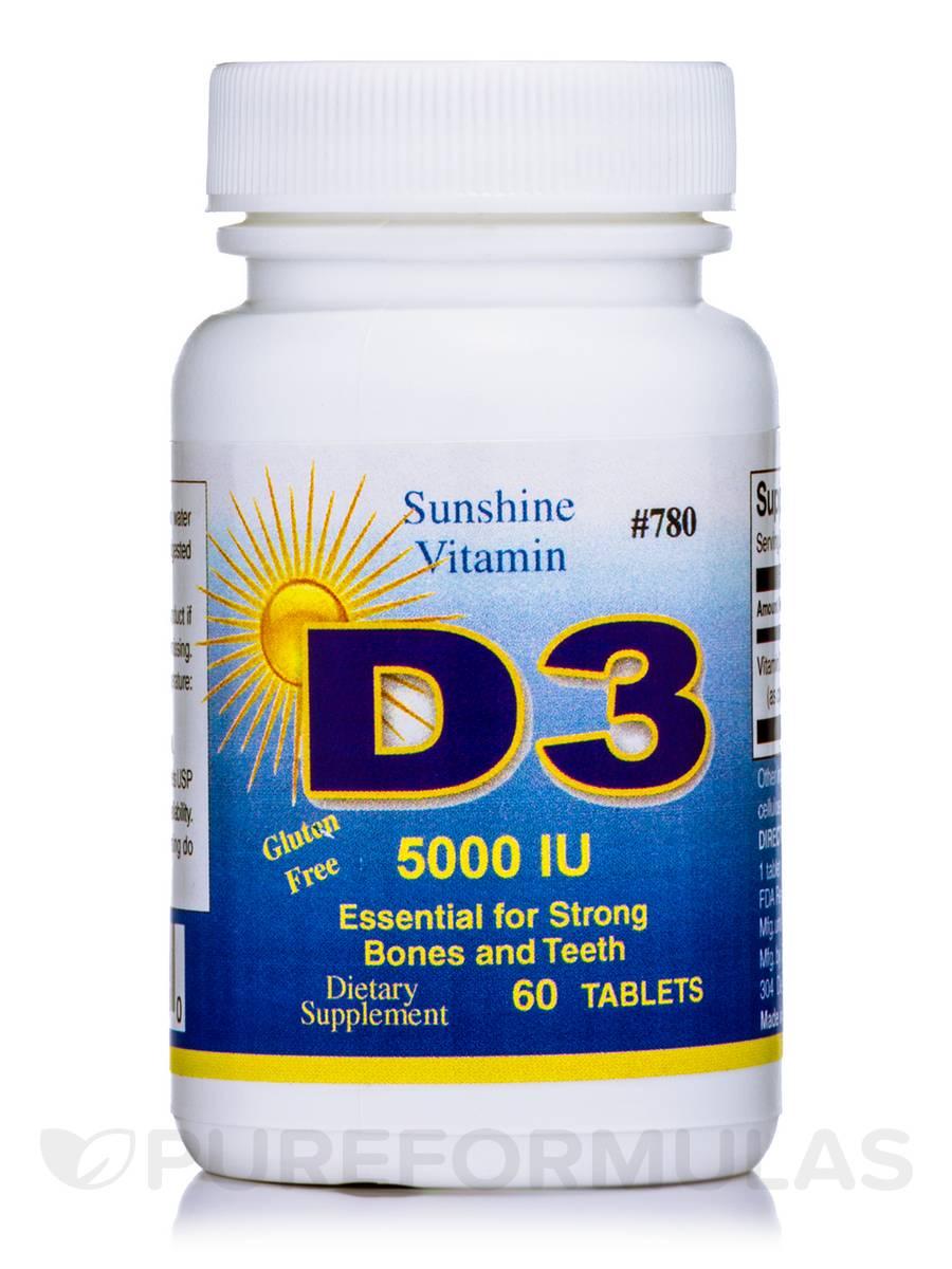 Vitamin D 5000 IU - 60 Tablets
