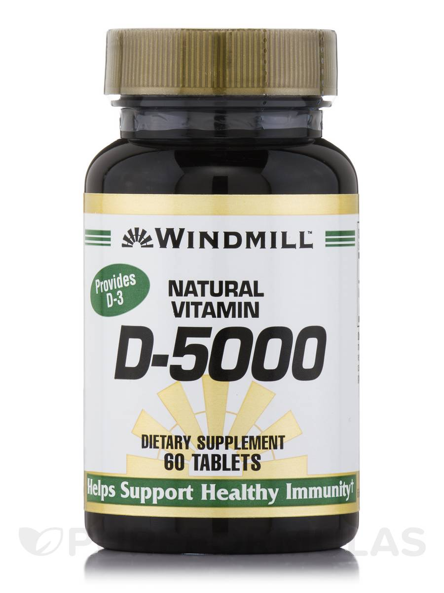 Vitamin D 5000 IU - 60 Tablets