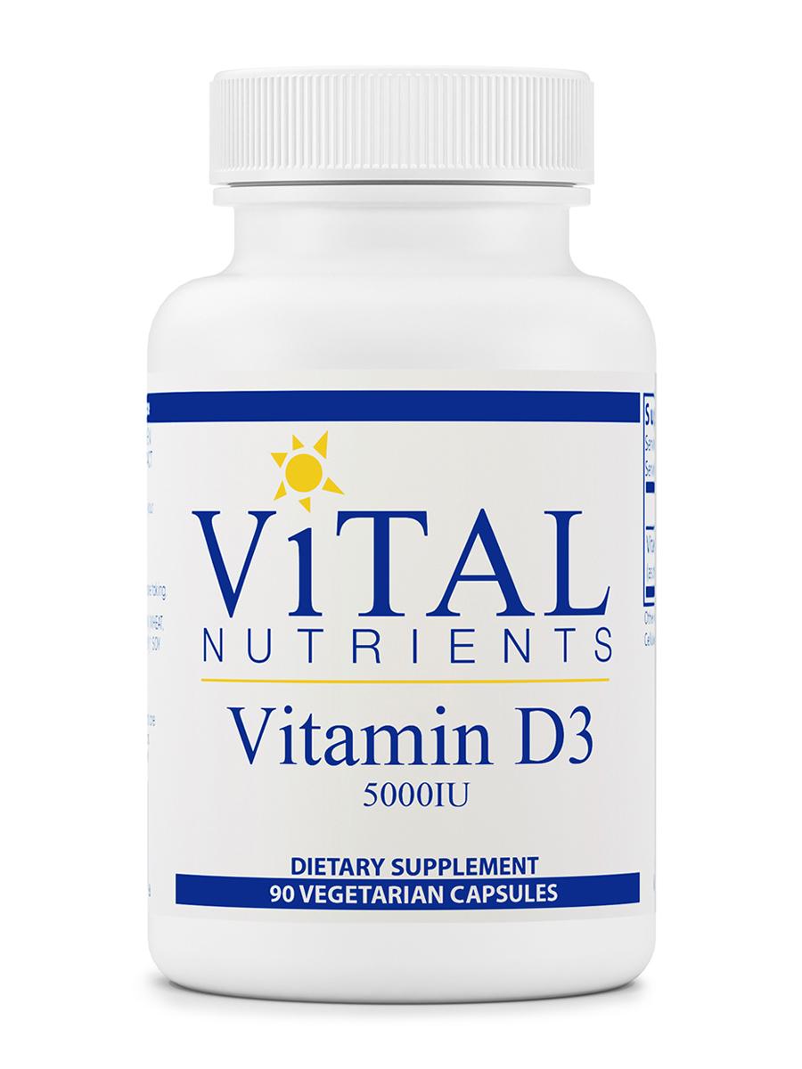 Vitamin D3 5,000 IU - 90 Vegetarian Capsules