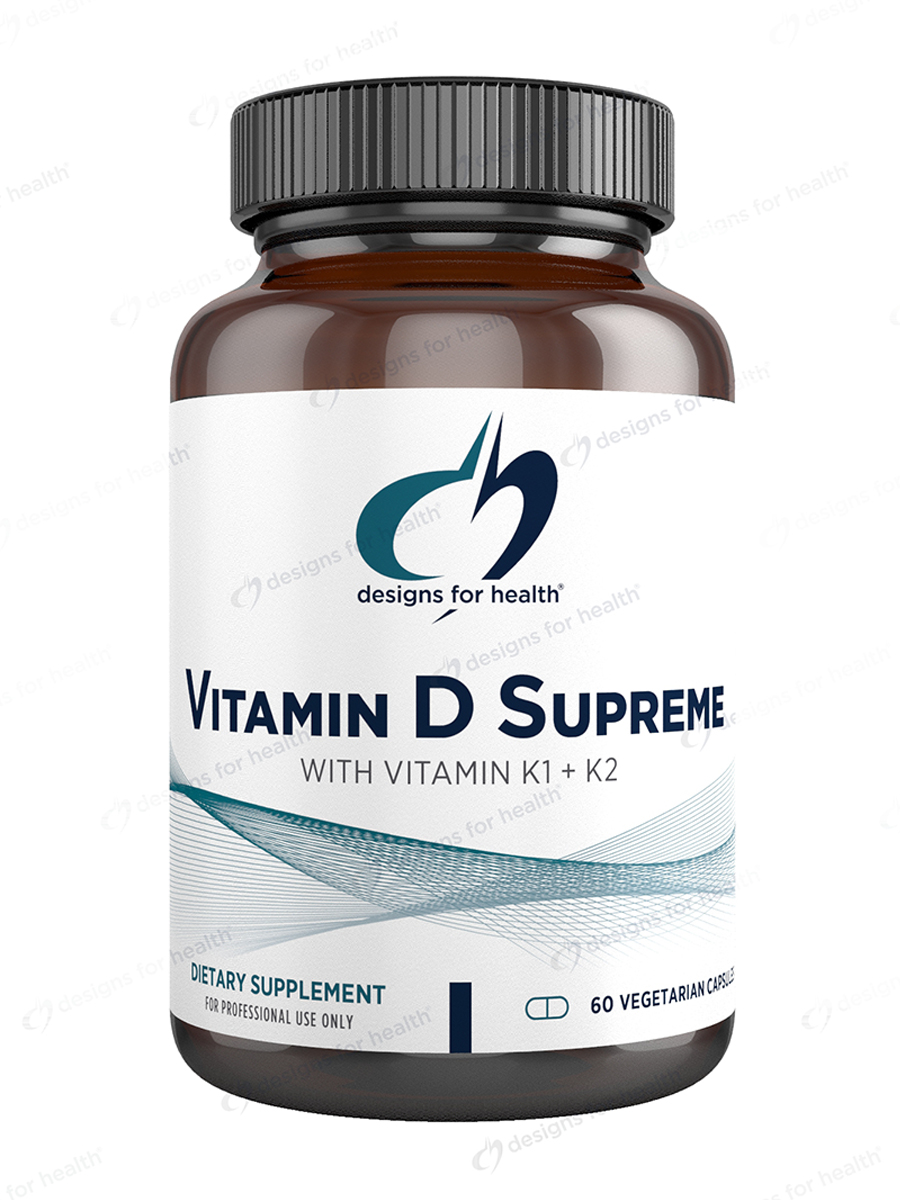 Vitamin D Supreme with Vitamin K1 and K2 - 60 Vegetarian Capsules