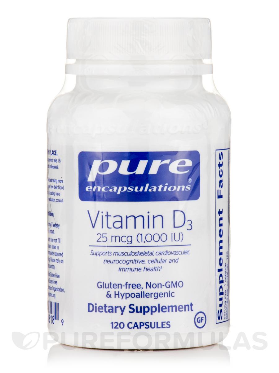 Vitamin D3 1,000 IU - 120 Capsules