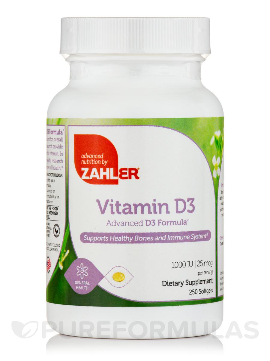 Vitamin D3 1000 IU - 250 Softgels