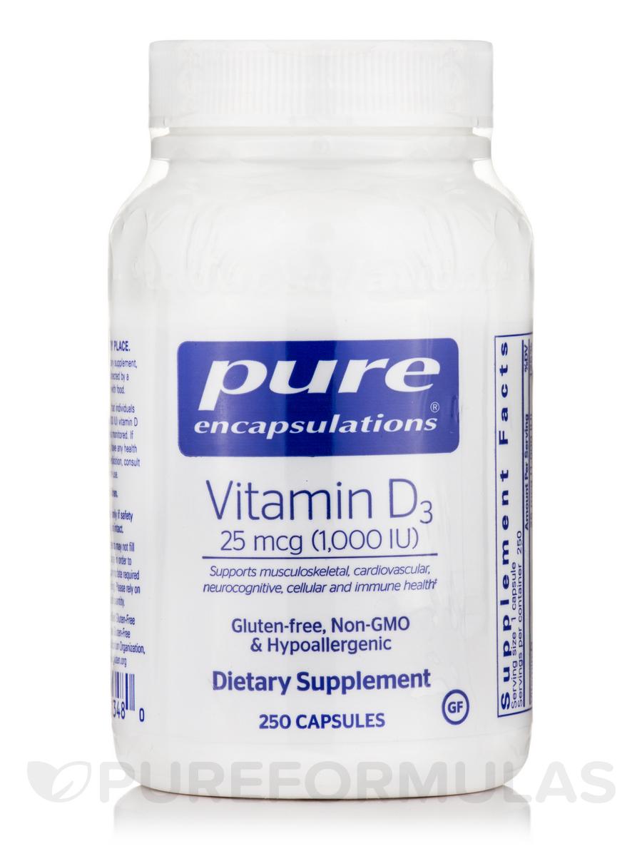 Vitamin D3 1,000 IU - 250 Capsules