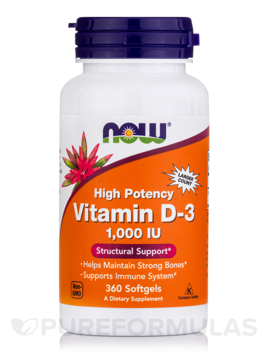 Vitamin D-3 1000 IU - 360 Softgels