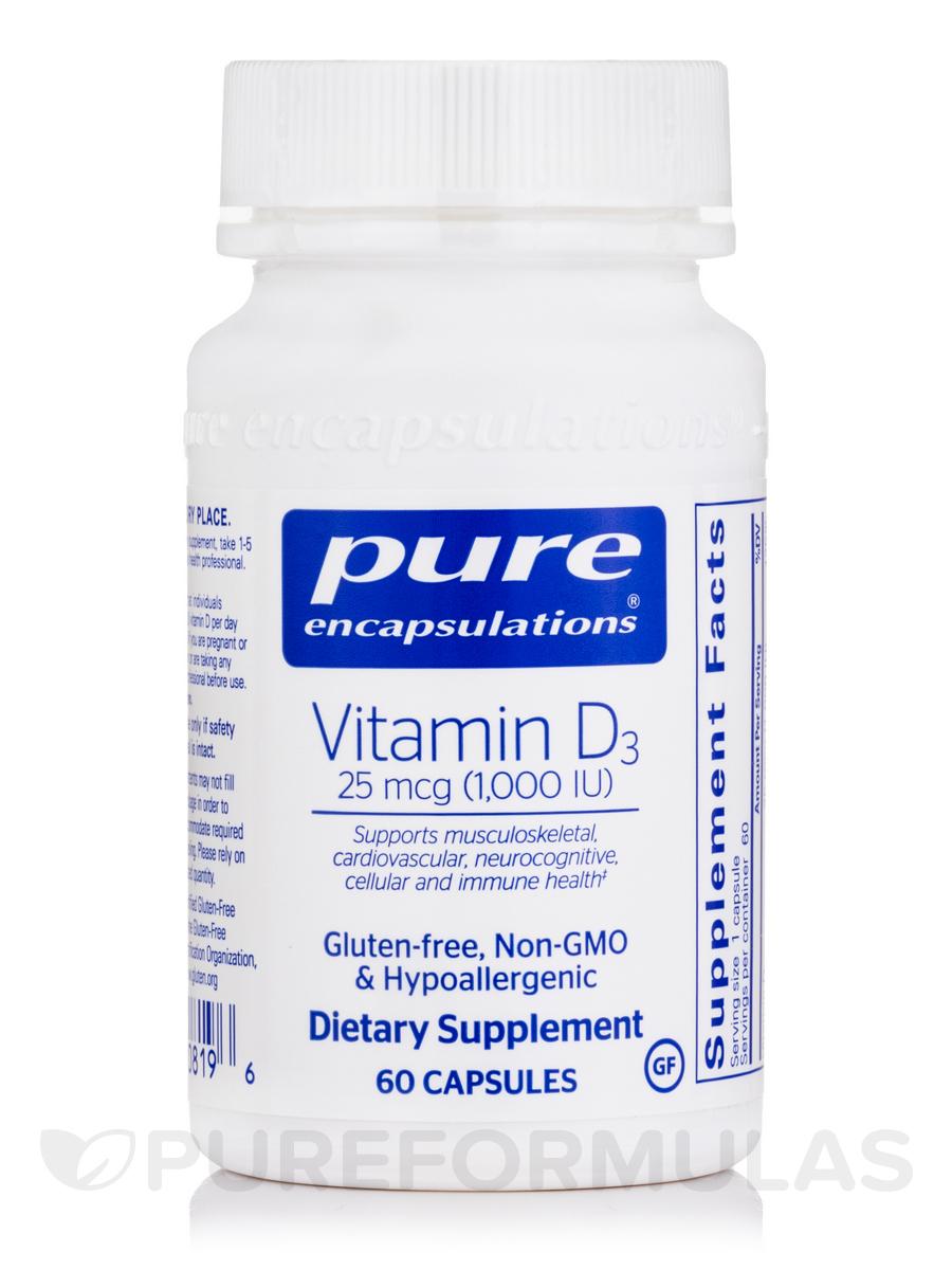 Vitamin D3 1,000 IU - 60 Capsules