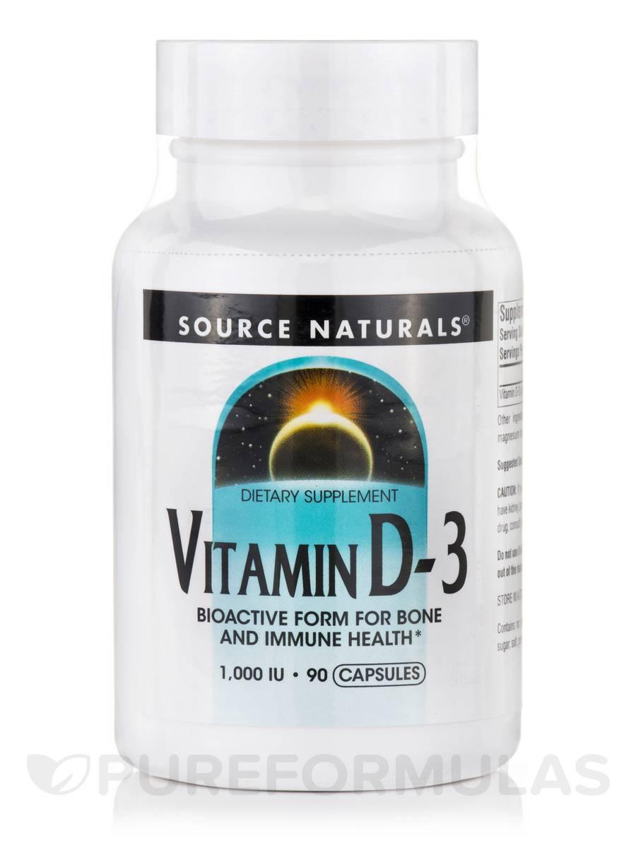 Vitamin D-3 1000 IU - 90 Capsules