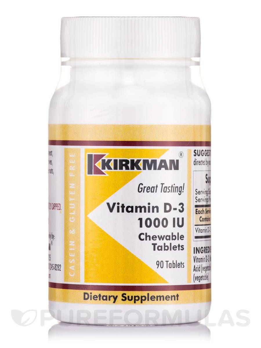 Vitamin D-3 1000 IU - 90 Chewable Tablets