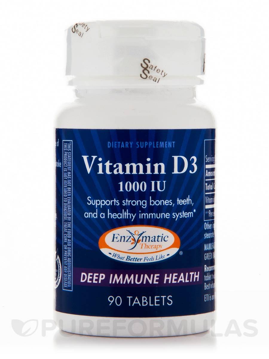 Vitamin D3 1000 IU - 90 Tablets