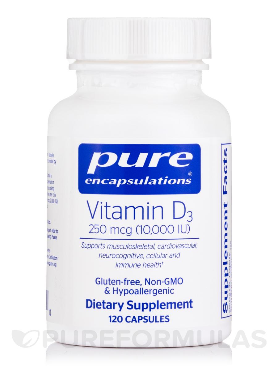 Vitamin D3 10,000 IU - 120 Capsules