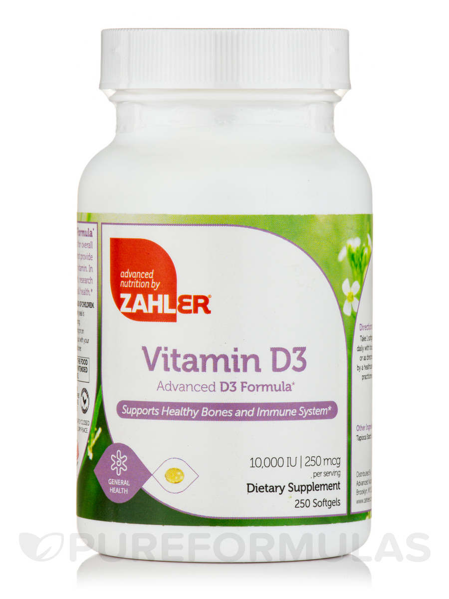Vitamin D3 10000 IU - 250 Softgels