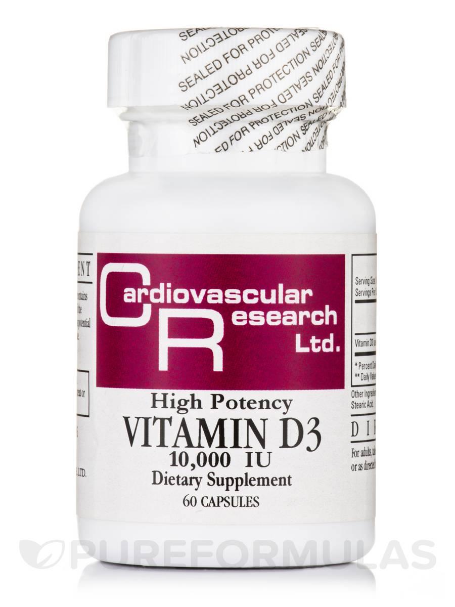 Vitamin D3 10000 IU - 60 Capsules