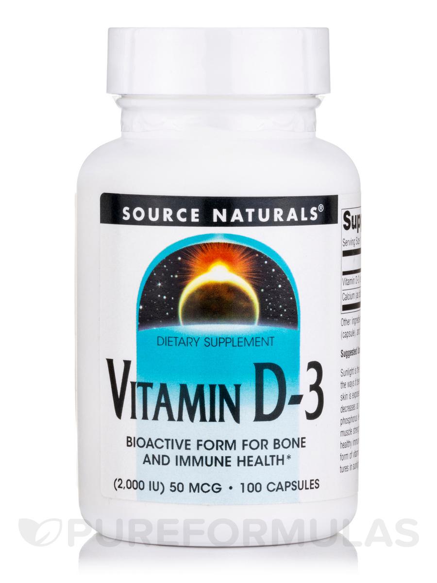 Vitamin D-3 2000 IU - 100 Capsules