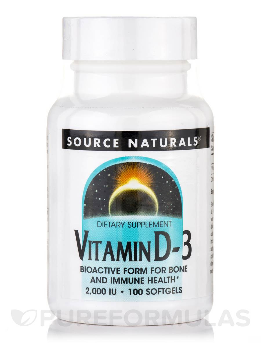 Vitamin D-3 2000 IU - 100 Softgels