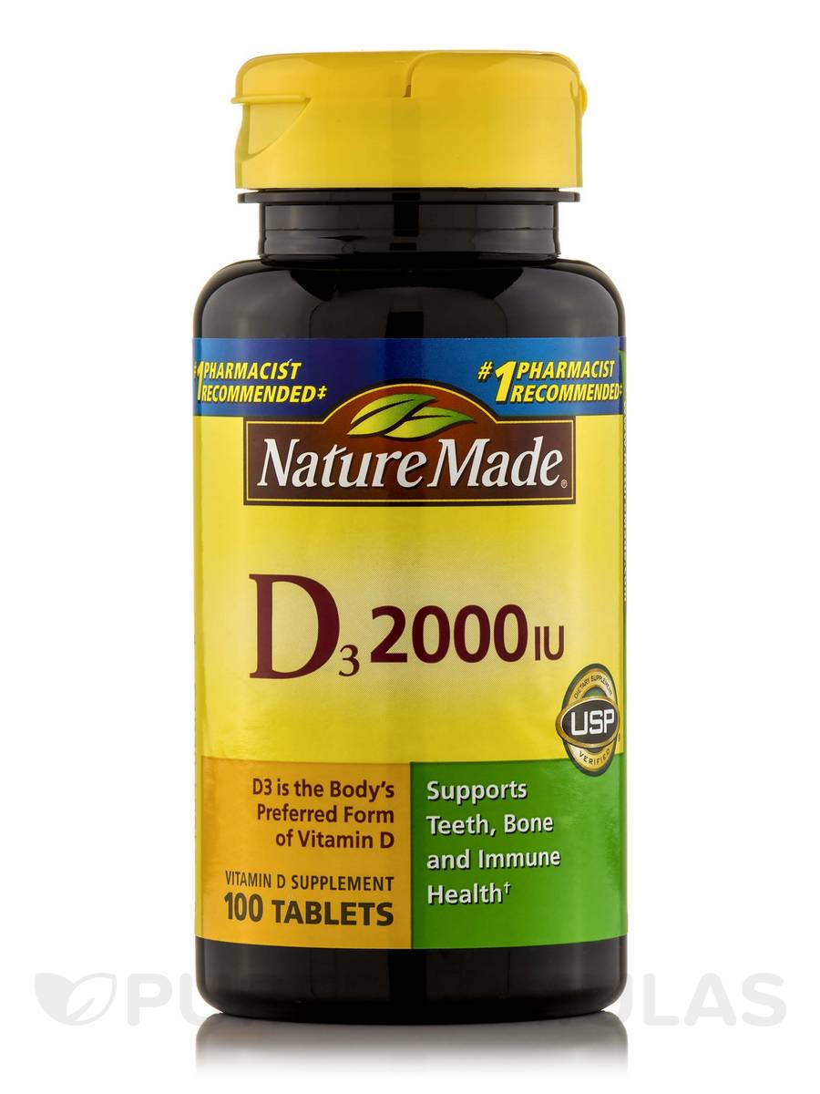 Vitamin D3 2000 IU - 100 Tablets