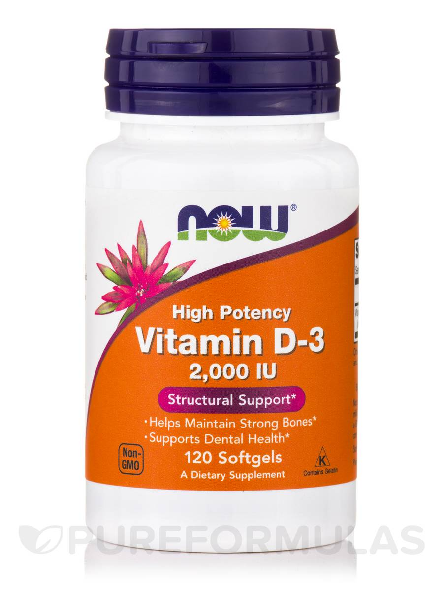 Vitamin D-3 2000 IU (High Potency) - 120 Softgels