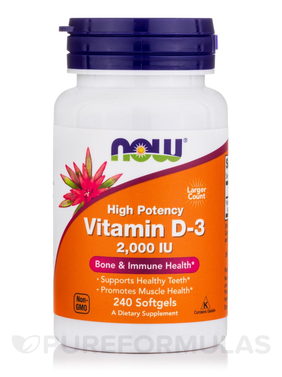 Vitamin D-3 2000 IU - 240 Softgels