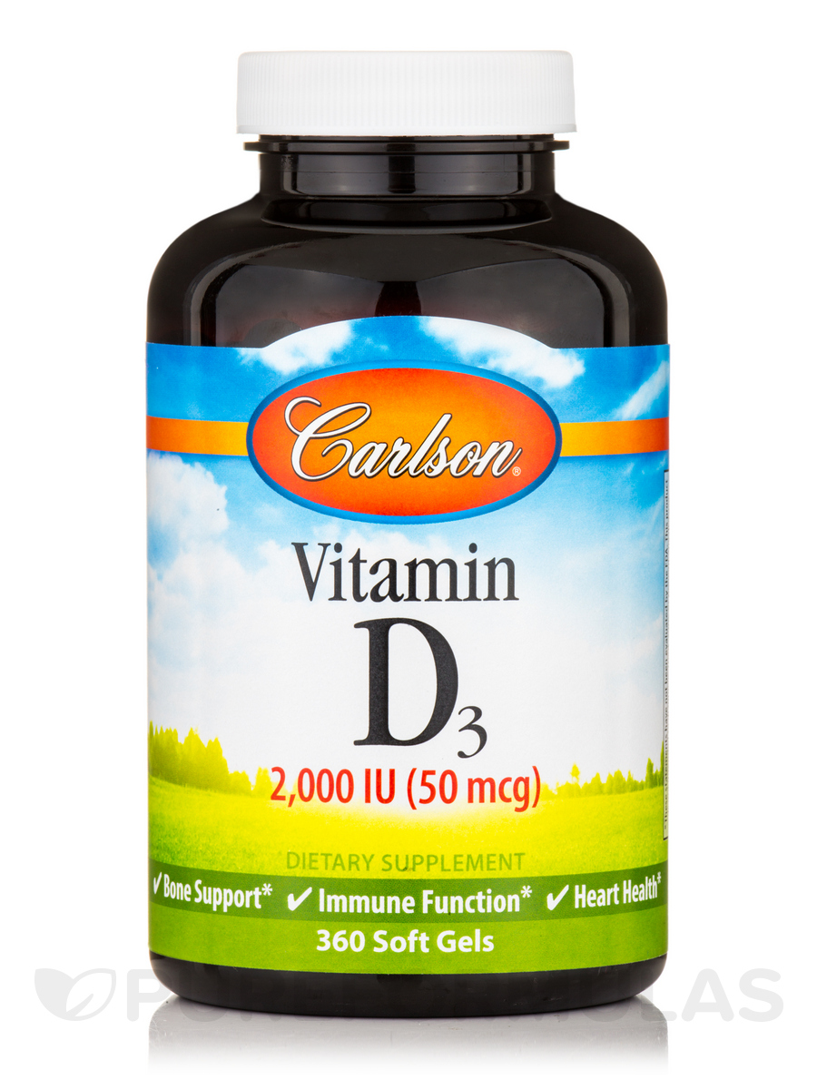 Vitamin D3 2,000 IU - 360 Soft Gels