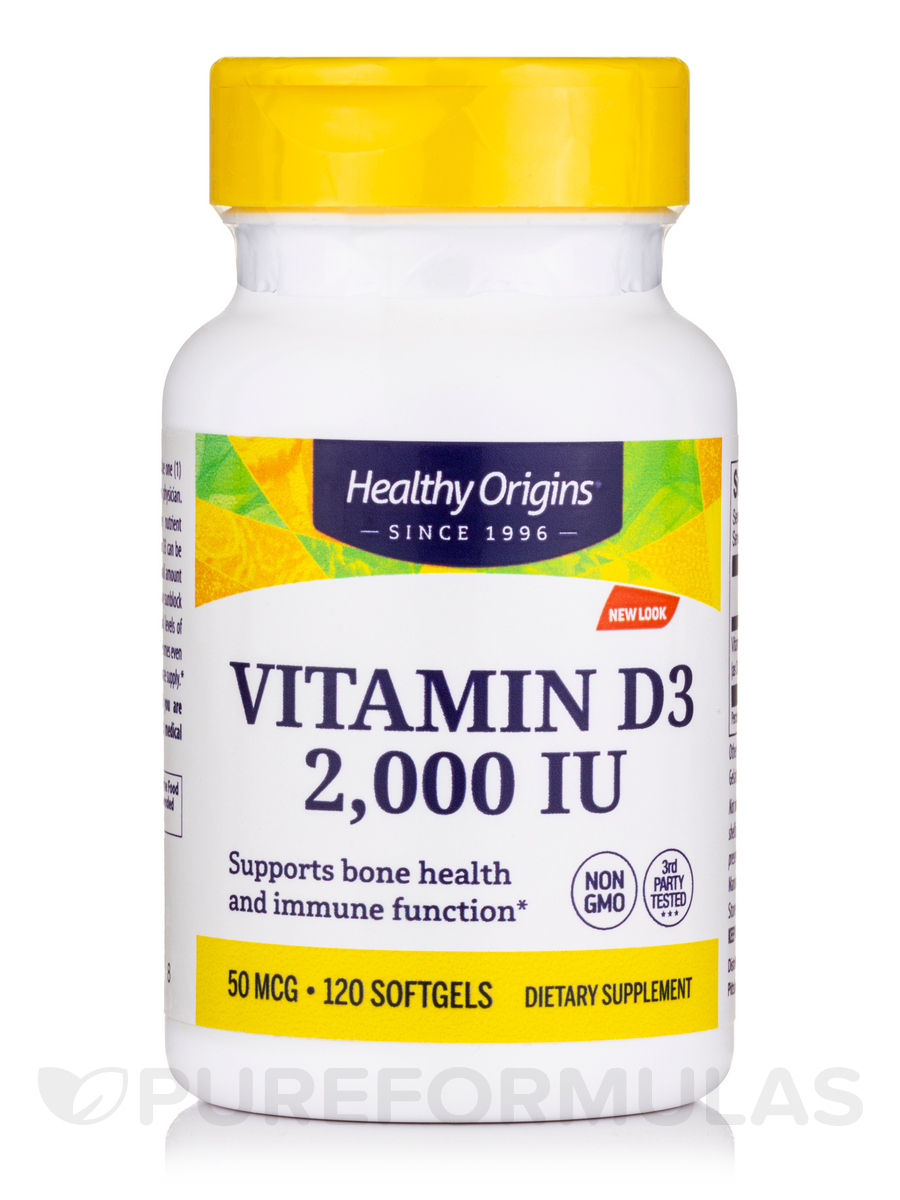 Vitamin D3 2000 IU (Lanolin) - 120 Softgels