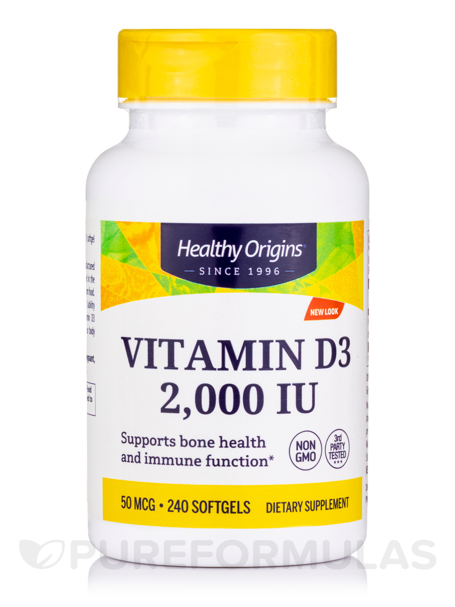 Vitamin D3 2000 IU (Lanolin) - 240 Softgels