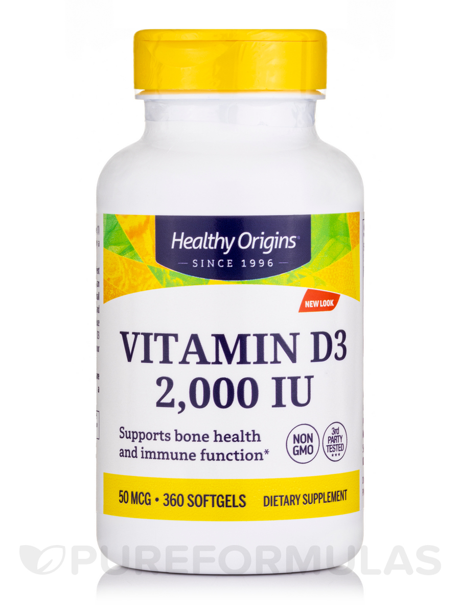 Vitamin D3 2000 IU (Lanolin) - 360 Softgels