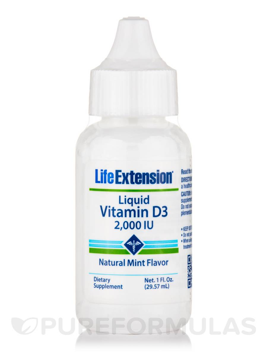 Vitamin D3 2000 IU (Mint Flavor) - 1 fl. oz (29.57 ml)