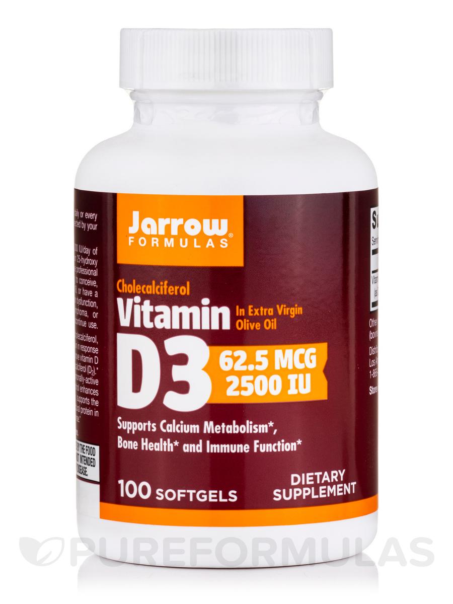 Vitamin D3 2500 IU - 100 Softgels