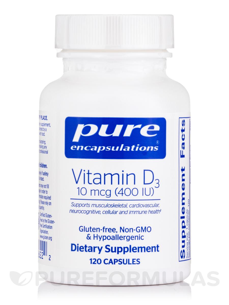 Vitamin D3 400 IU - 120 Capsules