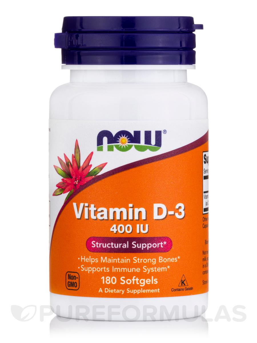 Vitamin D-3 400 IU - 180 Softgels