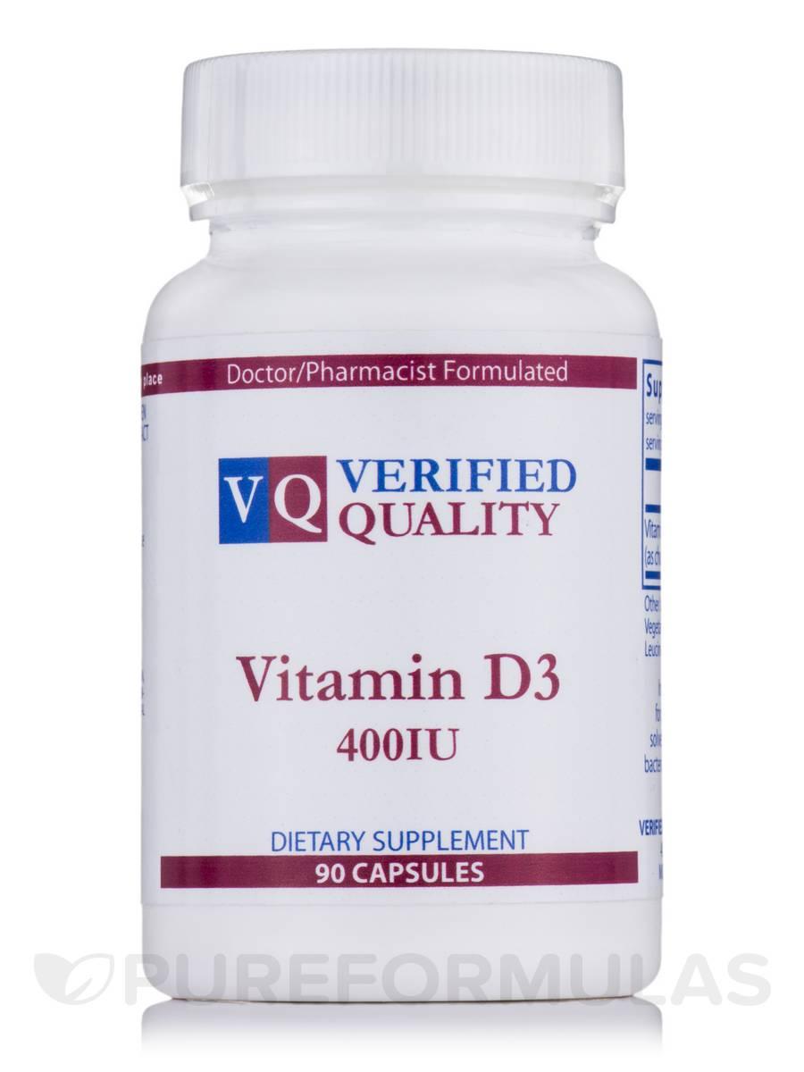 Vitamin D3 400 IU - 90 Capsules