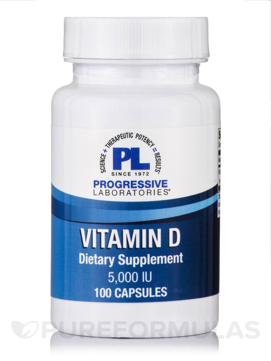 Vitamin D-3 5000 IU - 100 Capsules