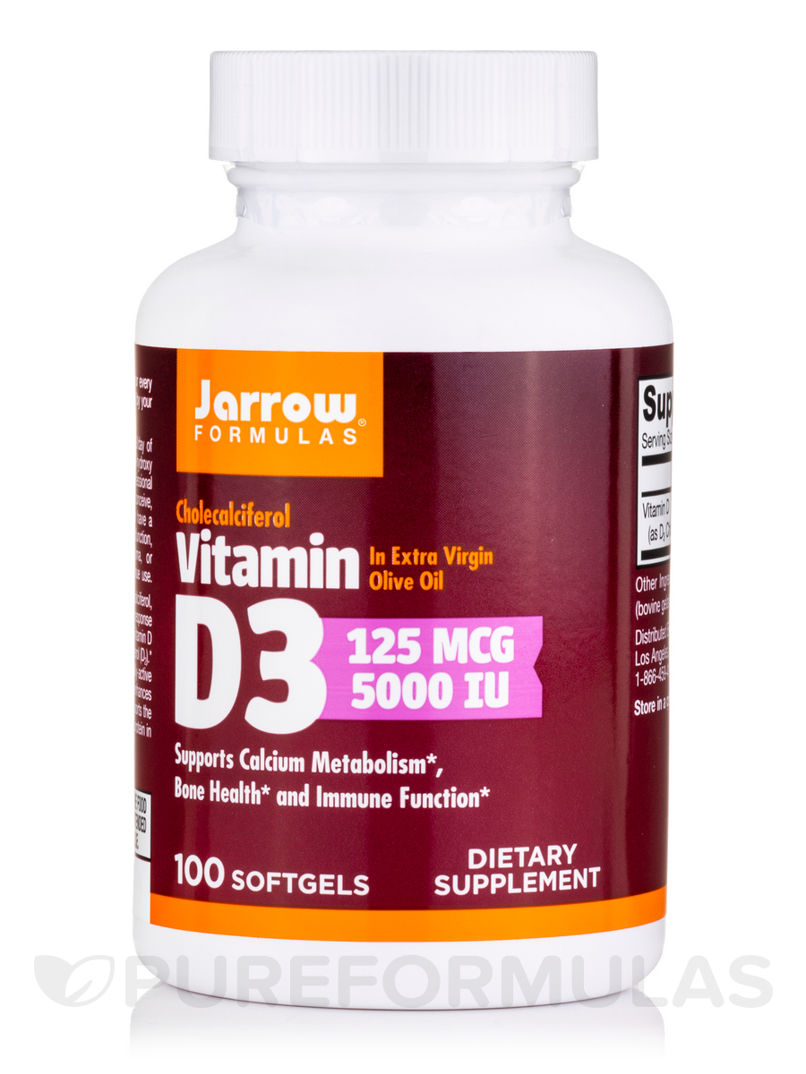 Vitamin D3 5000 IU - 100 Softgels
