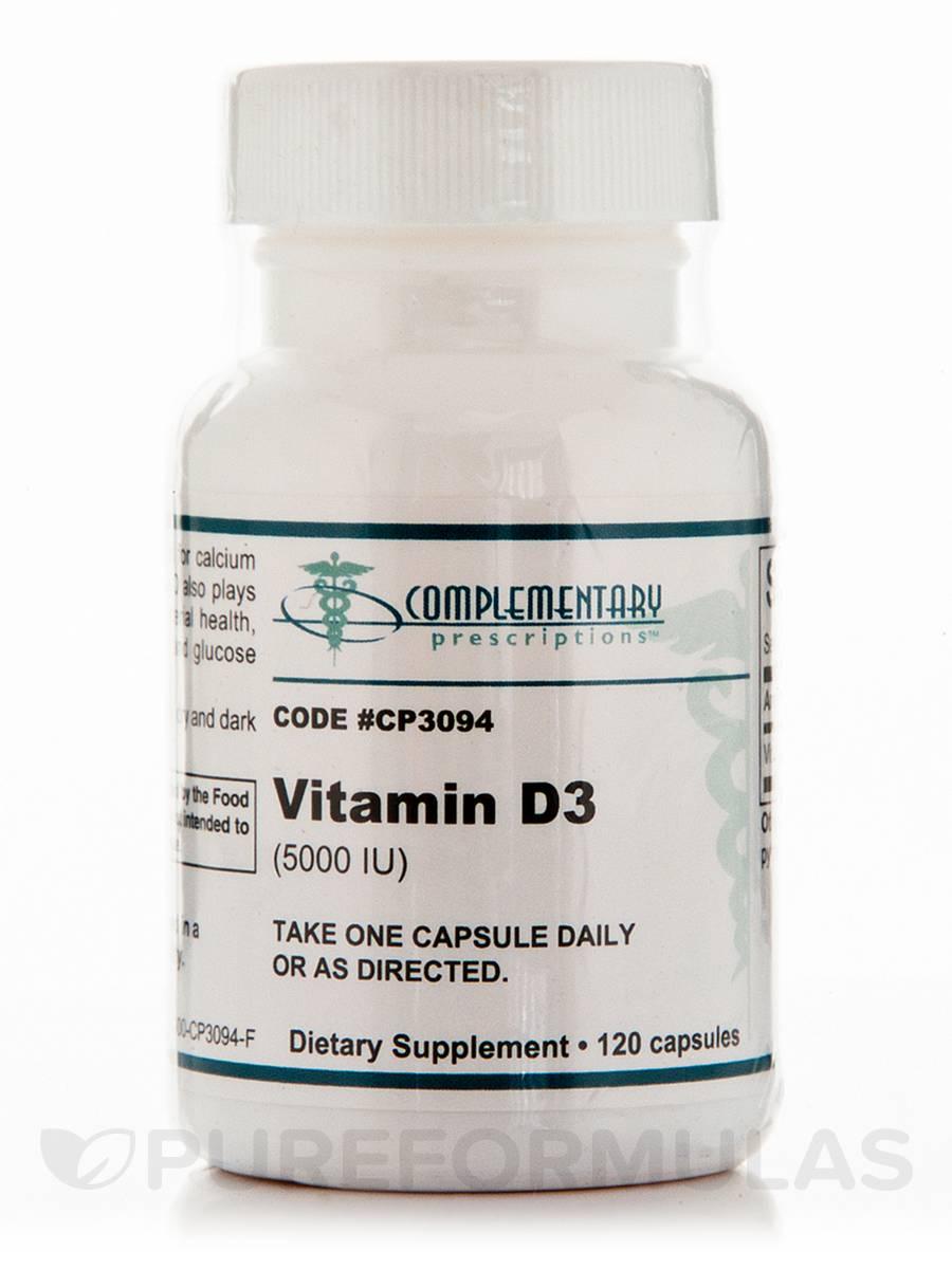 Vitamin D3 5000 IU - 120 Capsules