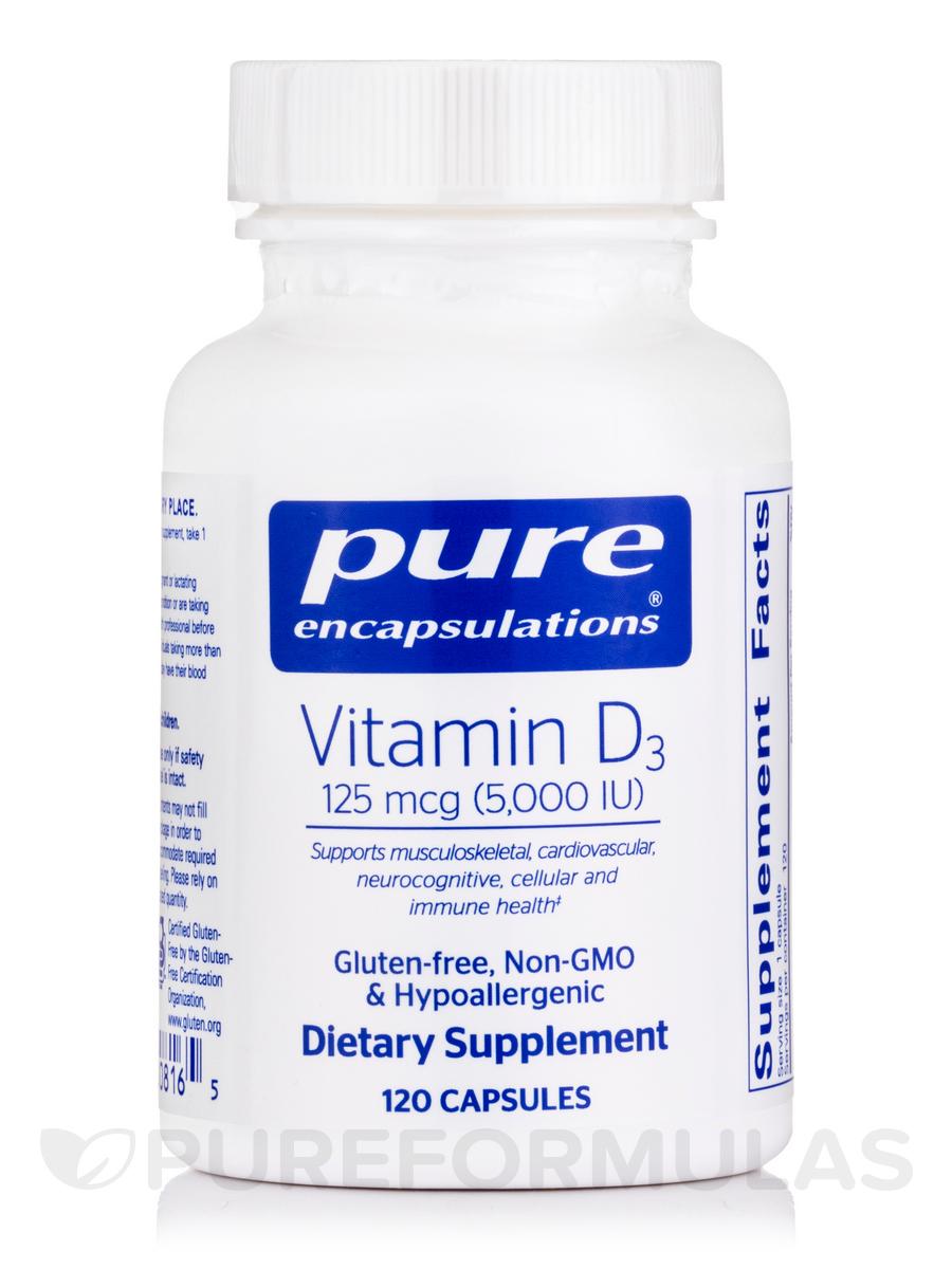 Vitamin D3 5,000 IU - 120 Capsules