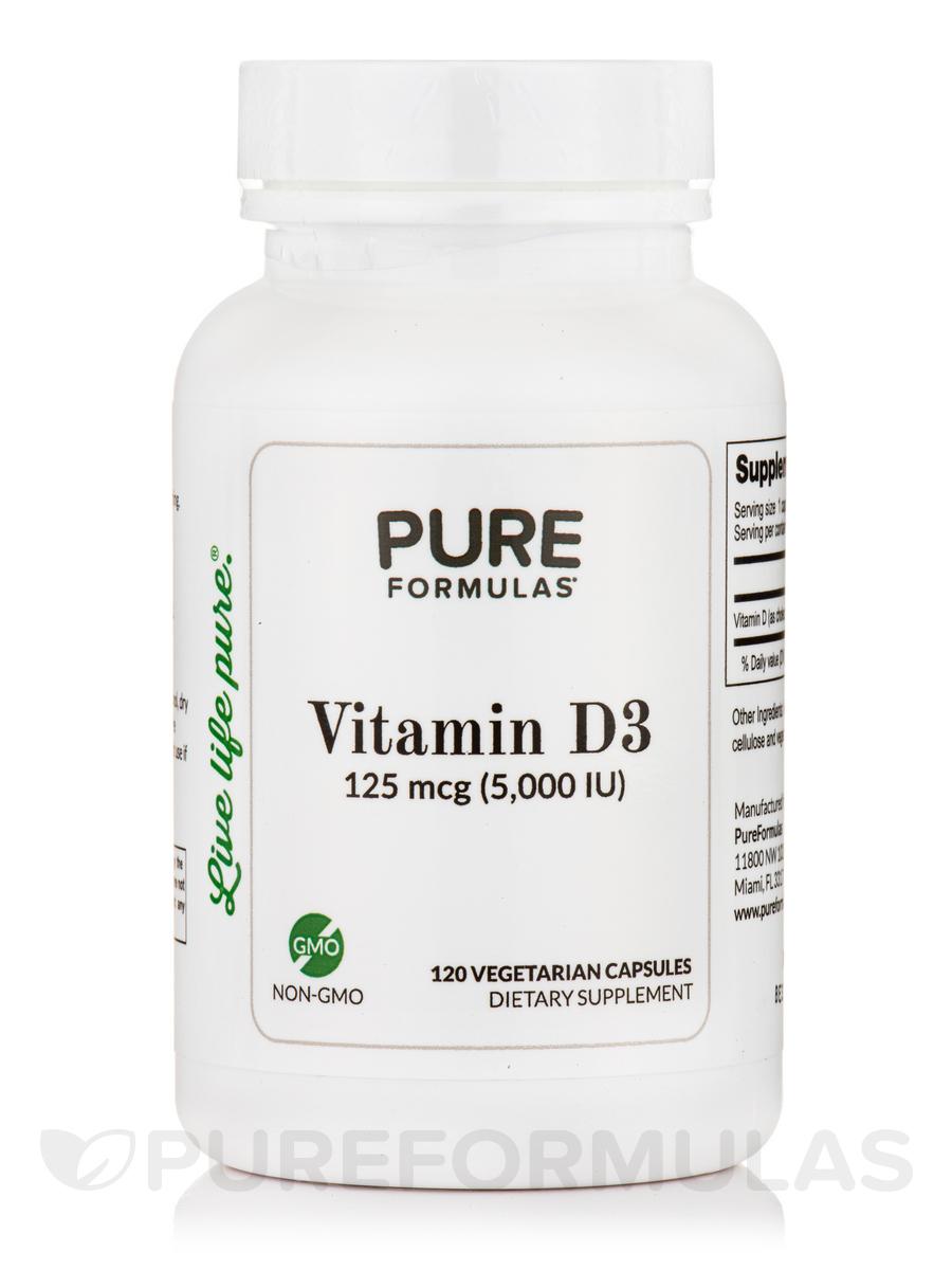 Vitamin D3 5000 IU - 120 Vegetarian Capsules