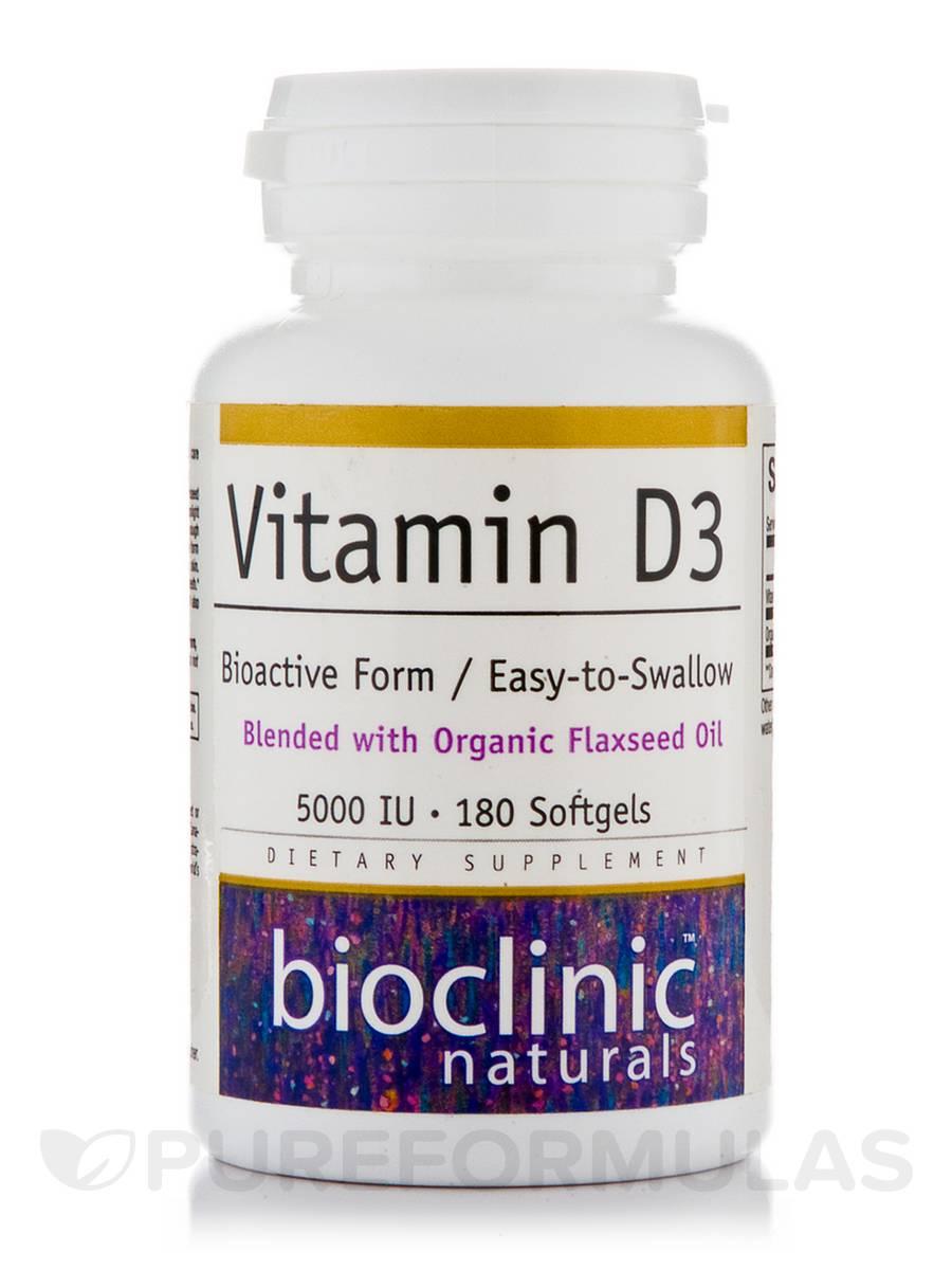 Vitamin D3 5000 IU - 180 Softgels