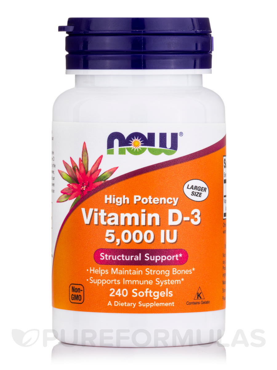 Vitamin D-3 5000 IU - 240 Softgels